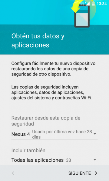 Restaurar copia seguridad android