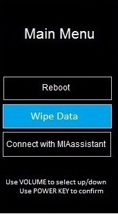 Hard Reset Wipe Data
