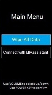Hard Reset Wipe all data